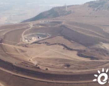 中东抽蓄项目上水库坝体填筑完成