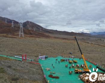 西藏阿里與藏中電網聯網工程線路工程(包1)段全面進入導地線