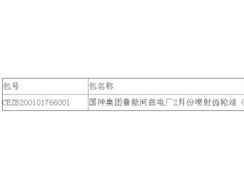 中标|国神集团鲁能山西河曲电厂2月份喷射<em>齿轮油</em>(派通)采购公开招标中标结果公告