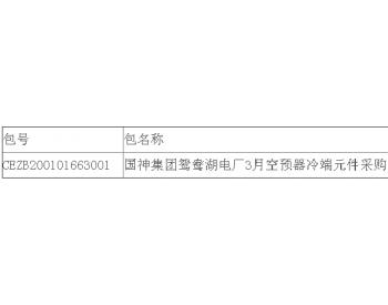 中标|国神集团宁夏<em>鸳鸯湖电厂</em>3月空预器换热元件采购中标结果公告
