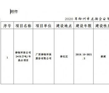 广西柳州发布2020年降碳工作推进方案