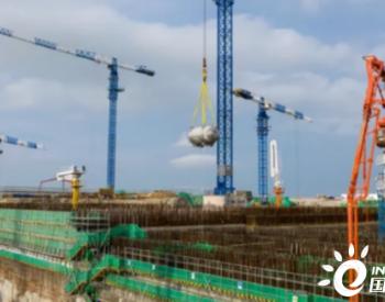 中核二三承建的福建<em>漳州核电</em>1号机组首台预装设备顺利吊装就位