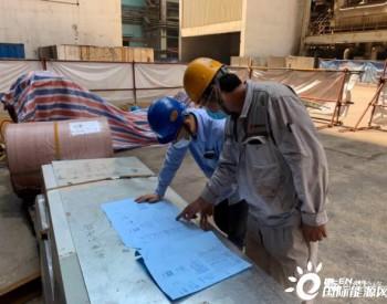 中国华电可门电厂低负荷脱硝改造顺利完成烟道吊装