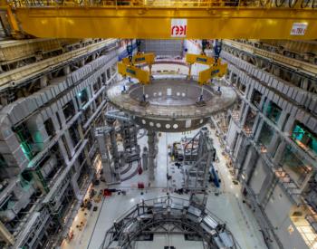 """国际""""人造太阳""""开启核心安装工作 中核集团牵头完成<em>ITER</em>杜瓦底座吊装"""