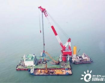国内单体容量最大海上风电项目首桩精准入海,主体工程正式开工