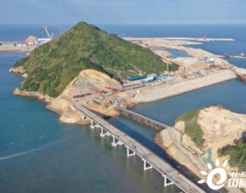 华能福建霞浦核电基地进厂道路控制性工程架设完成