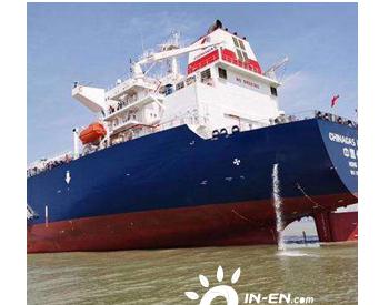 浙江洞头:5万吨级超大型液化气船首航