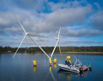 海上风电|一款长着犄角的<em>漂浮式风机</em>下水试验,2021年将在中国测试
