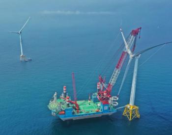 国内首个深水海域四桩导管架基础安装完成