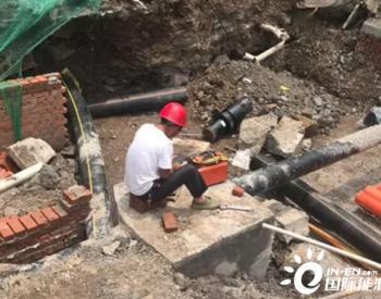 重庆北站南广场燃气管网迁改工程完成碰口