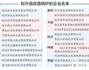 黑龙江哈尔滨24家燃煤电厂和市区建成区这些燃煤<em>锅炉</em>将升级<em>改造</em>【附名单】
