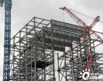 印度首座超超临界<em>火力发电厂项目</em>1号锅炉大板梁吊装完成