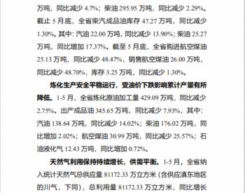 2020年1-5月云南省油气<em>监管</em>信息简报