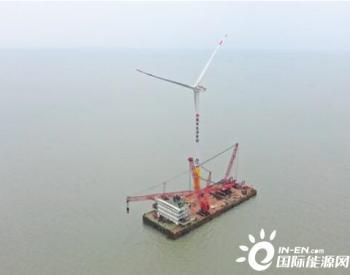 首个中外合资海上风电项目首台<em>风机</em>吊装成功