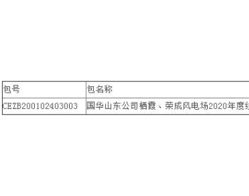 中标丨青岛云柱电气有限公司中标国华<em>投资</em>山东分公司2020年度风电场线路维护服务