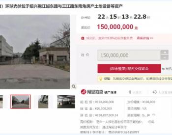 1.5亿起 又一家<em>光伏</em>企业破产拍卖