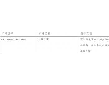 招标|河北<em>华电</em>石家庄赞皇250MWp光伏复合项目工程监理招标公告