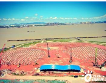 中國化學工程廣東廣州LNG項目樁基工程提前完工