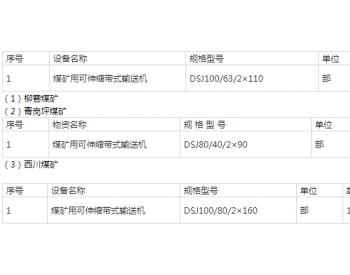招标 | 华能煤业有限公司陕西矿业分公司各单位带式输送机采购项目【重新招标】招标公告