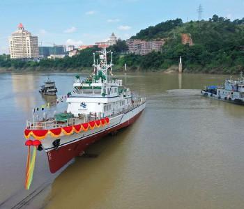 国内首艘500千伏海底电缆综合运维船顺利下水