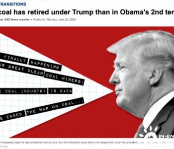 特朗普当政3年半退役的煤电已经超过奥巴马的4年