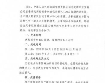 """上海<em>石油</em>天然气交易中心关于""""碳中和LNG船货公开竞价交易""""的预公告"""