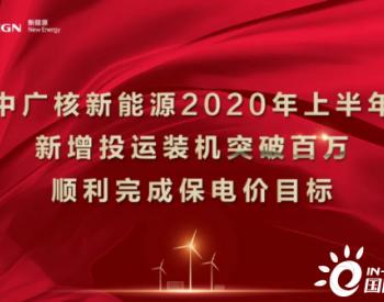 新增投运100万千瓦!中广核新能源完成上半年保<em>电价</em>目标