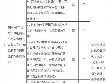 招标丨国华(内蒙古呼伦贝尔)风电有限公司等两家单位东汽1.5MW风机变频器改造技改...