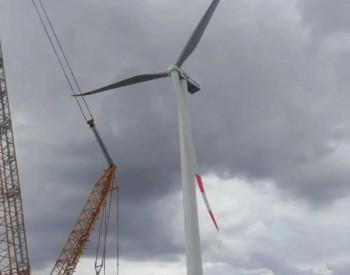 内蒙古镶黄旗盛世鑫源125MW特高压风电项目吊装完成