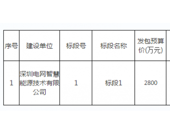 招標|深圳電網<em>智慧能源</em>技術有限公司5MW/15.889MWh磷酸鐵鋰電池儲能系統項目總承包招標...