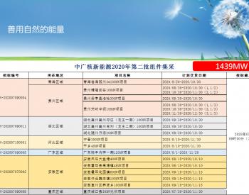招标   中广核1439MW<em>光伏组件集采</em>招标公告!