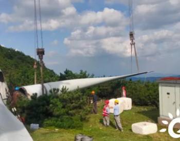 龙源电力浙江括苍山风电场顺利完成更换吊装工作