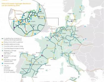 歐洲氫能主干網丨11家天然氣公司聯合發布氫能基礎設施主干網絡研究