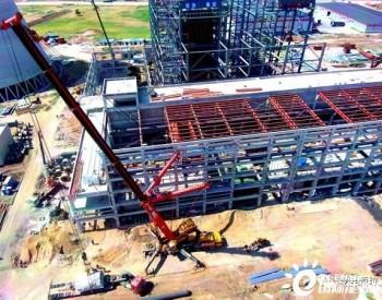 黑龙江梅里斯九洲生物质热电联产项目1、2号发电机定子吊装顺利完成