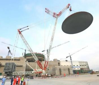 <em>华龙一号</em>全球示范工程福清核电6号机组外穹顶吊装完成 