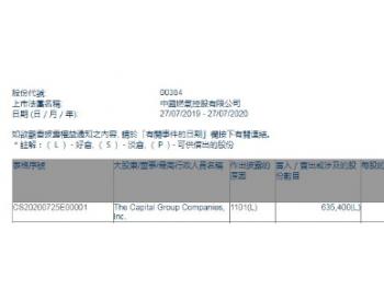 美国资本集团增持中国燃气63.54万股,每股作价23.555港元