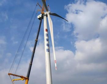 <em>山西</em>省灵丘县小王庄12万千瓦风电项目首台风机吊装完成