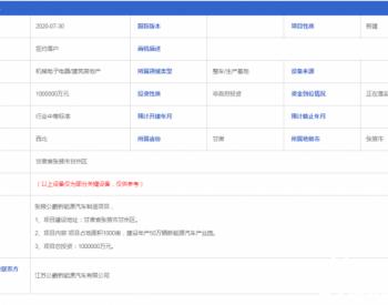 甘肃张掖公爵新能源汽车制造项目