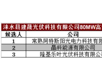 中标|1.419元/瓦,含税含运费!80MW高效单晶硅光伏组件开标