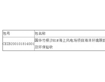 中标丨江苏竹根沙H1#海上风电场项目海洋环境跟踪监理及环保验收公开招标中标结果公告