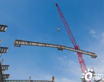 安徽马钢节能减排综合发电工程主厂房屋架开吊