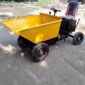 青海座驾式矿用四轮车建筑垃圾转运灰斗车四轮车多功能自卸灰斗车