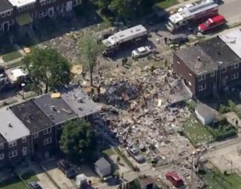 美国巴尔的摩居民区天然气<em>爆炸</em>致1死多伤