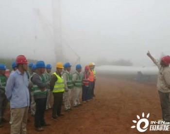50MW,<em>大唐</em>河南新安古都风电场项目第一节塔筒顺利吊装