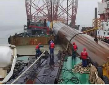 """627吨""""擎天柱""""<em>海上</em>漂流44公里 中交三航局实现大直径单桩浮运施工"""