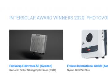 比亚迪电池助力Fronius获得Intersolar2020大奖