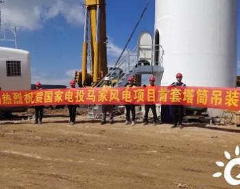 国家电<em>投</em>广西资源马家风电项目首套塔筒吊装完成