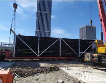 石化四建储运公司在平湖LNG创单日完成气化器安装纪录