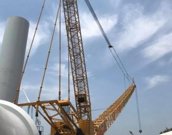 山西省泽州县东格分散式风电项目机组开始吊装