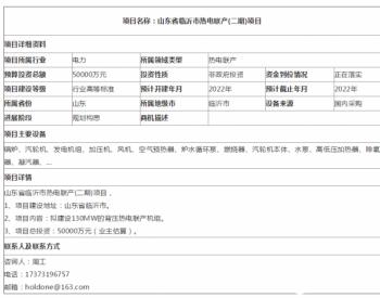 山东省临沂市热电联产(二期)项目